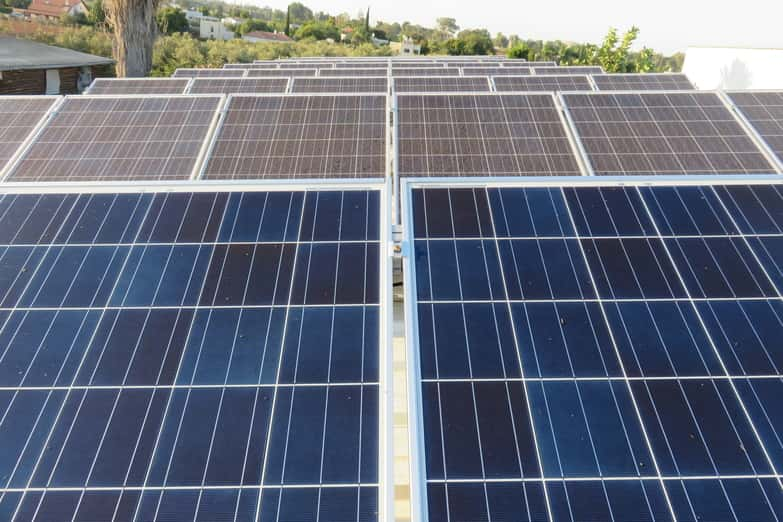Example of clean solar panels installed in San Jose